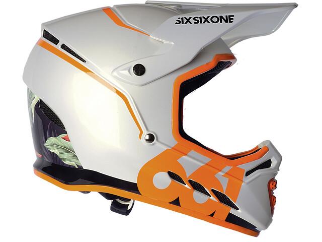 SixSixOne Reset Fullface Helm tropic orange